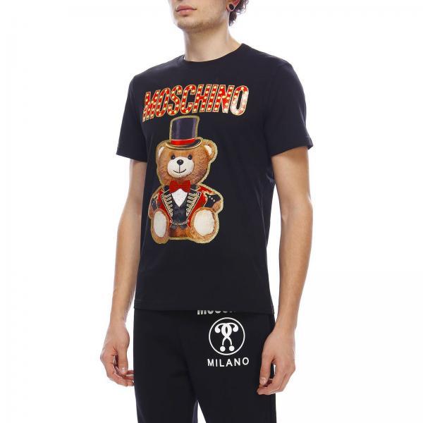 Moschino A Maxi Circus Con Teddy T Stampa shirt Maniche Corte bf6mgyYI7v