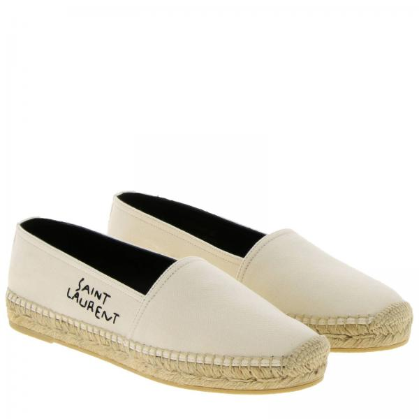 Espadrillas Tela Con Laurent Slip Ricamato In Logo Saint On Used CBoedrx