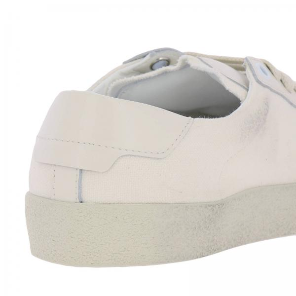 In Stringata Laurent E Used Con Saint Pelle Effetto Tela Logo Sneakers dxQrhCts