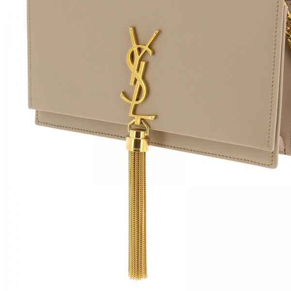 Vera Donna Saint LaurentKate Borsa Chain Pelle 452159 C150j In Wallet Mini Ysl Monogram Liscia 0mn8vNw