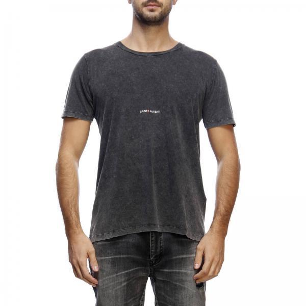 6105405e696a33 Saint Laurent Men's Black T-shirt | T-shirt Men Saint Laurent ...