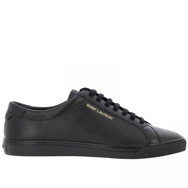 Stringata In Laurent Con Liscia Saint Sneakers Pelle Logo iXOTwkuPZl