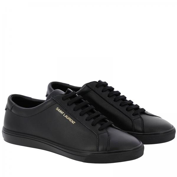 Stringata Sneakers In Con Logo Liscia Pelle Saint Laurent 9D2HIYEW