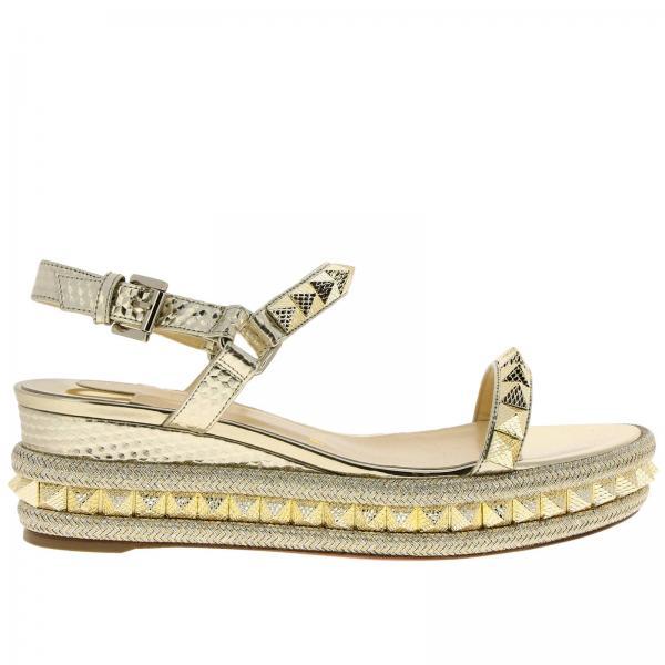 De Cuña 1190102giglio verano Mujer Christian 2019 Louboutin Zapatos Platinum Primavera gqx61Hqw