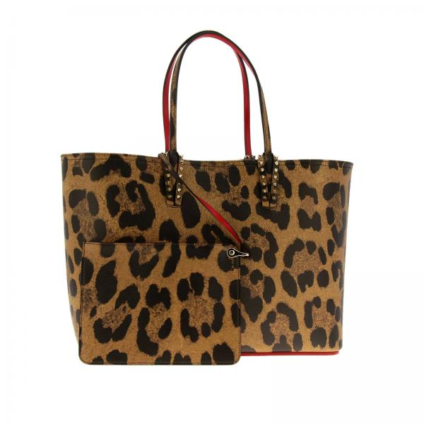 Spalla Pelle Donna Christian In BeigeCabata Con Louboutin Empire Borsa Large Stampa 1195037 Leopardata Shopping A Martellata QhxdsrCt
