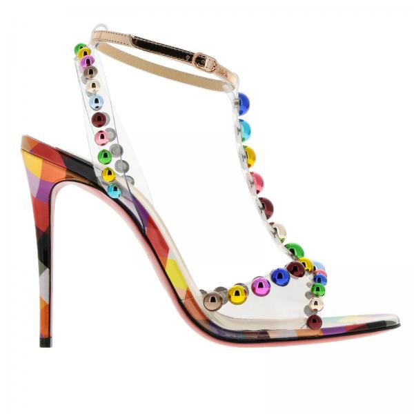 65037e45b39e Christian Louboutin Women s Multicolor Heeled Sandals