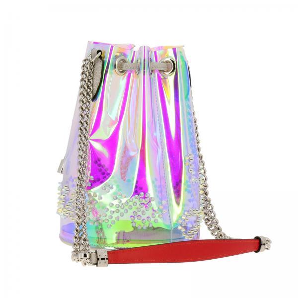 Donna Louboutin Bucket Glitter TrasparenteMarie Logo Borsa Jane Pvc In Mini Christian Con 1195355 lFT1JuKc3