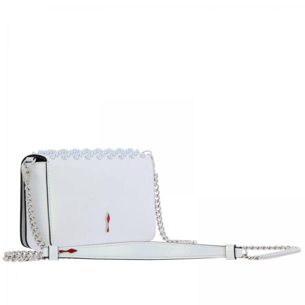 Louboutin Spikes BiancoZoompouch Paris 1195349 Donna Borsa Mini In Pelle Christian Perlata WD29HIE
