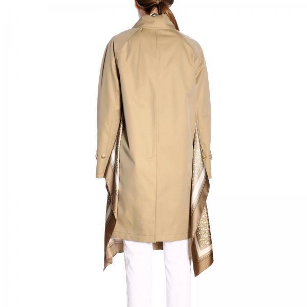 Trench Rainwear Logo Stampa Cappotto Fondo Foulard xBdoerCW