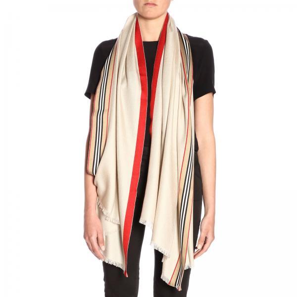 più economico buona reputazione molti stili Sciarpa in seta e lana con bande heritage burberry