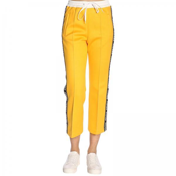 Pantalone jogging con bande Miu Miu a contrasto