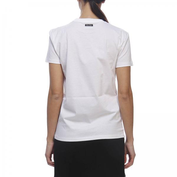 Stampa BiancoA T 1tnj Donna Miu shirt Corte Con Mjn095 Maniche Maxi 5AjLc43RSq