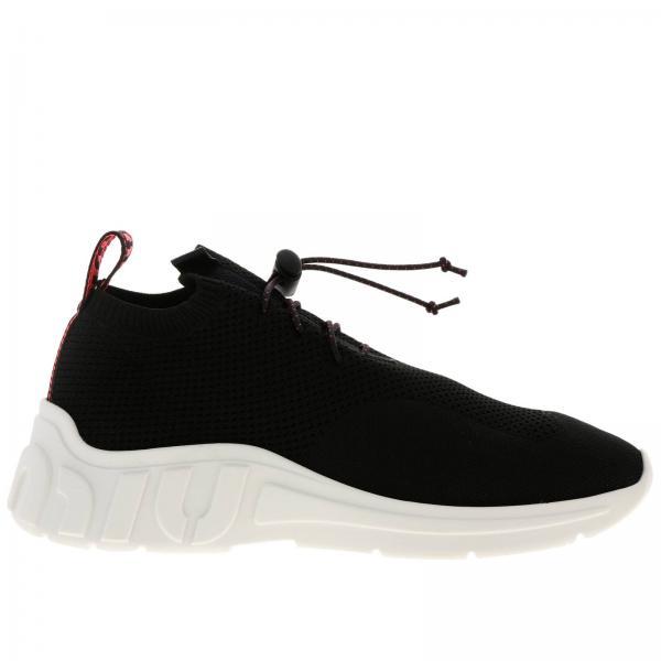 Sneakers Miu Con Xl Slip In Suola Gomma On Rete Maxi Micro E Tessuto Tecnico A eIWHYD2E9