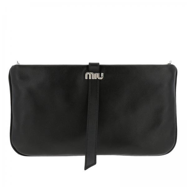 MiuIn Logo 5bf083 Vera Donna Coo Clutch 038 Pelle Liscia Con Metallico 5L34ARj