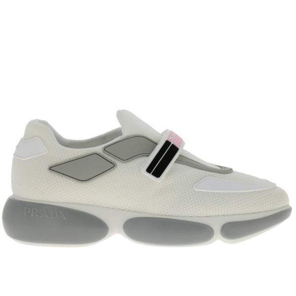 Sneakers Cloudbust Sport in mesh traspirante con cinturino a strappo firmato Prada