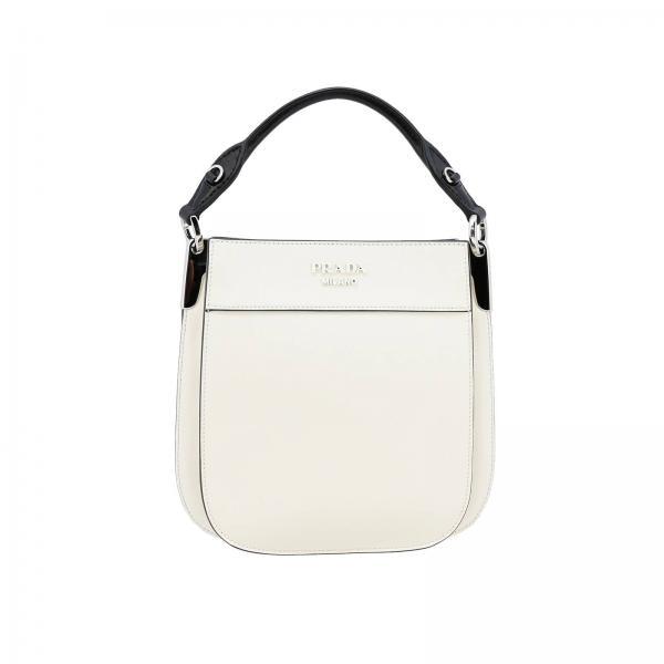 952776af20 Bolso pequeño margit de piel efecto bicolor con logo prada monochrome
