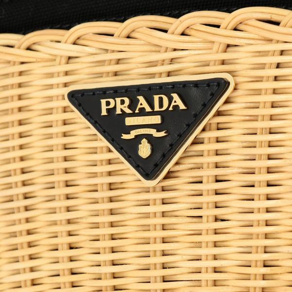 2e28 Prada 1bg172ooy Canapa In Logo Triangolare Intrecciata A Borsa Spalla Donna BeigeMidollino Con jLA354R
