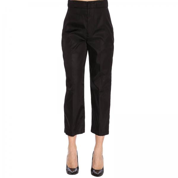 Pantalone Prada a vita alta in gabardine di nylon