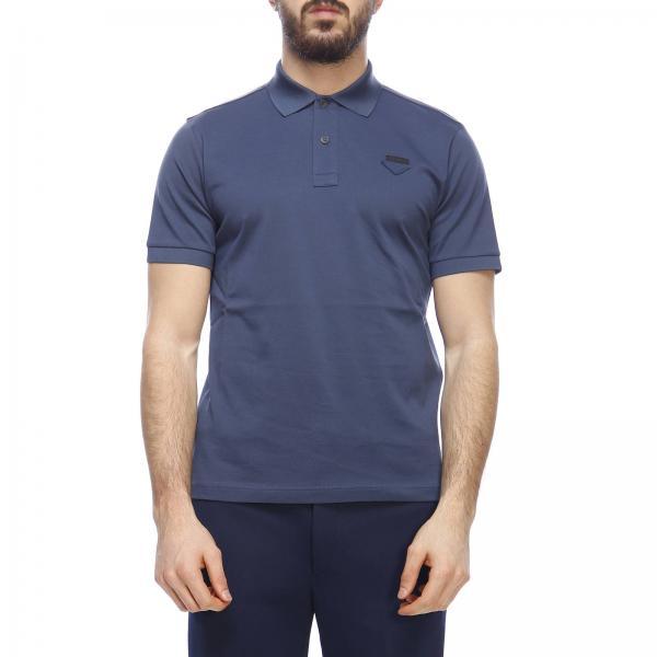 Maniche A Basic Corte Logo Prada Piqué Polo In Cotone Con OPkXZiuT