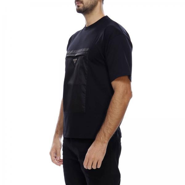 T Prada Maniche Con Corte Nylon A shirt Basic In Tasca YW2DHIE9