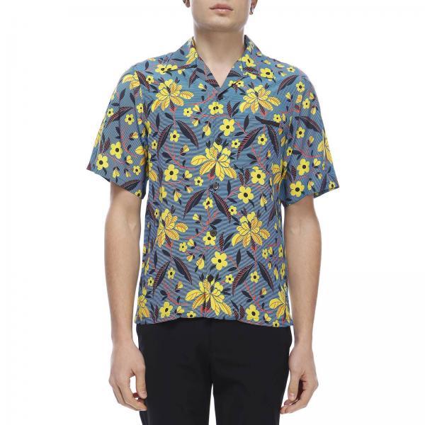 Camicia Bowling a maniche corte con stampa floreale