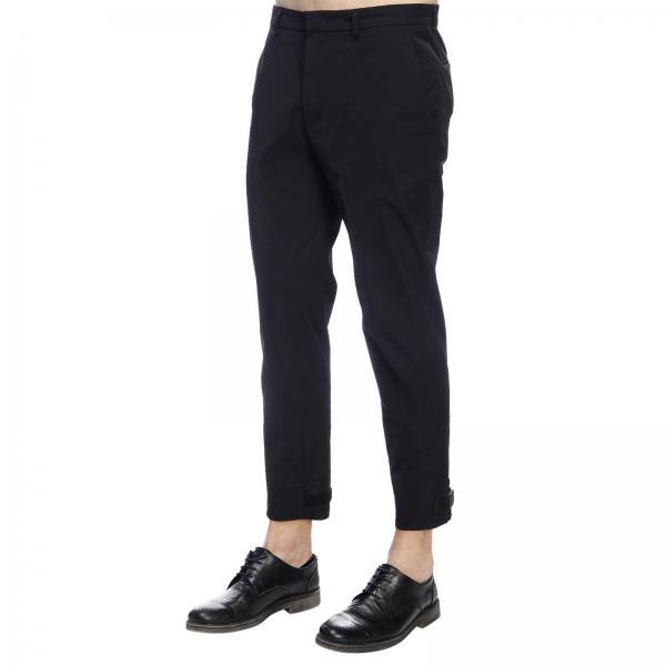 Prada Tecnico Velcro Con Logo Stretch Fondo Pantalone E In Sul Tessuto OTPkXZwui