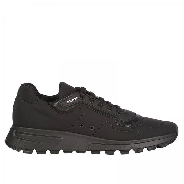 E Running 1mns Race In Pelle Sneakers Uomo PradaMatch Stringata Nylon Gomma Con Logo 4e3382 yvmN8n0wO