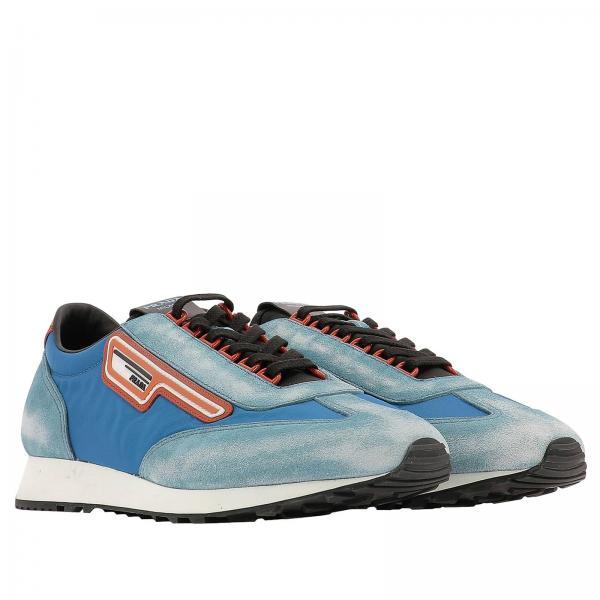 Stringata Camoscio Gomma 70 In E Nylon Sneakers Prada Milano Con Logo MUqSGLzVp