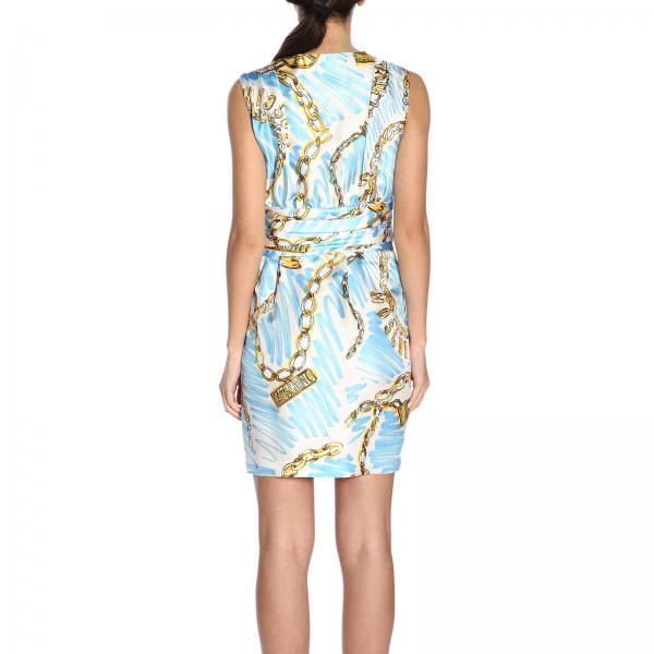 2019 Moschino Mujer Primavera verano Vestido Azul Couture 0472 452giglio g8dwaxwq