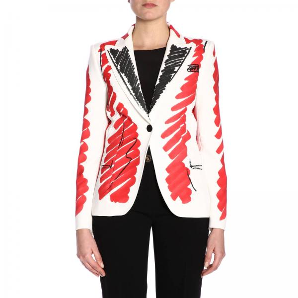 verano 0502 2019 Mujer Americana 424giglio Blanco Couture Primavera Moschino wU1qIa0
