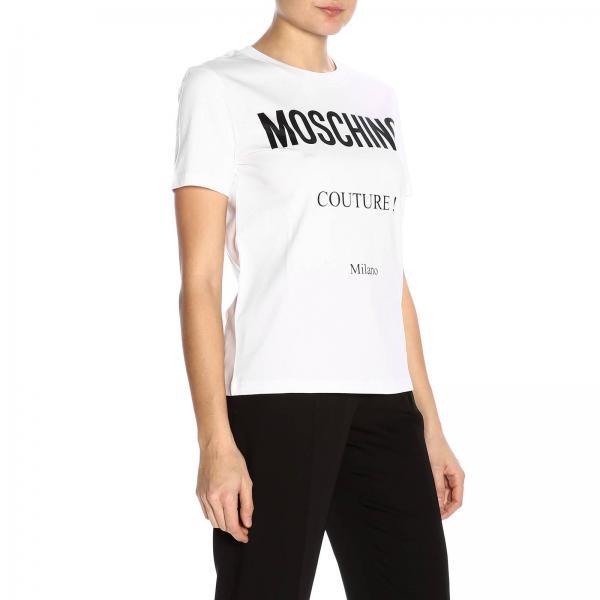 Moschino Stampa shirt Milano T Maxi Maniche Corte A Couture Con nO0wk8P