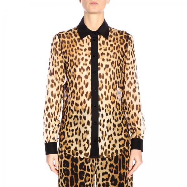 Camisa 0213 2019 verano Primavera Moschino 556giglio Couture Beige Mujer farwZfx