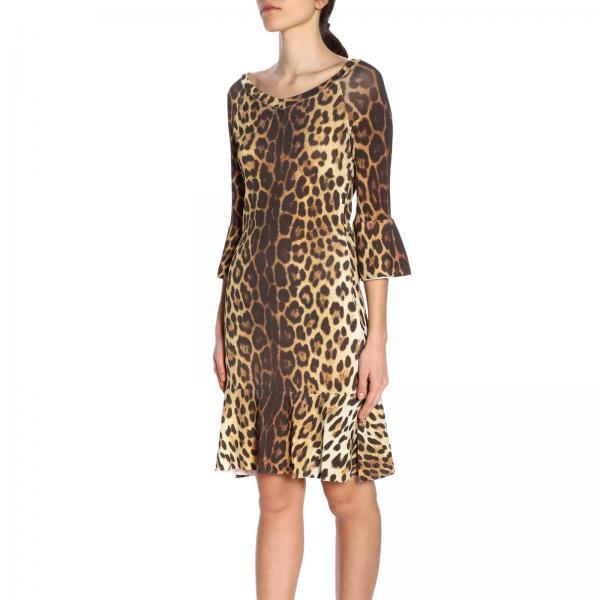 2019 Primavera 503giglio Beige Couture Mujer Vestido Moschino 0489 verano xwATfqO8