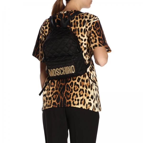 Mochila verano Moschino Primavera Negro Mujer 7608 2019 Couture 8201giglio r0wrq1R
