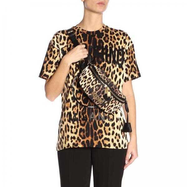 Primavera 8211giglio verano Riñonera 2019 Couture Mujer Beige 7705 Moschino wWwXTYqR