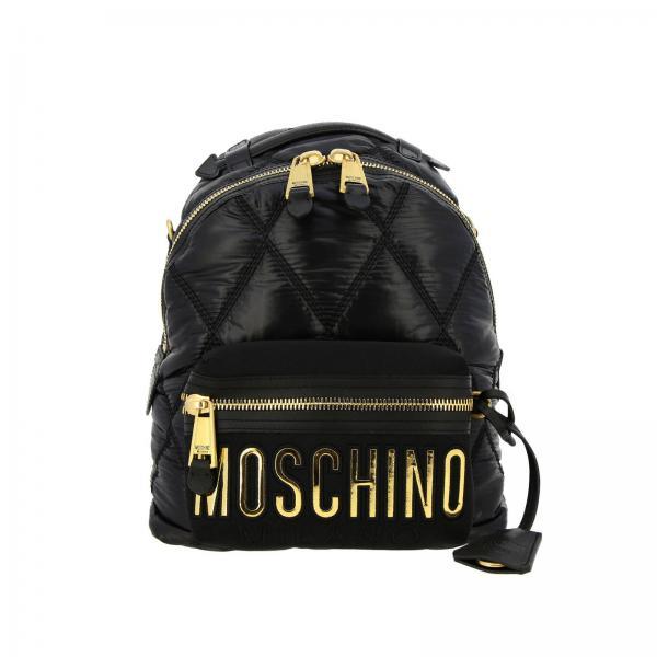 8207giglio Moschino Negro verano Mochila 2019 7605 Couture Primavera Mujer qw7B6OBv