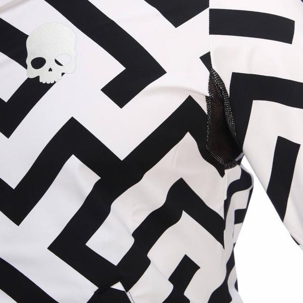 Tecnco Zip Stampa Tessuto Labyrinth Maglia Felpa Cappuccio 4L5AR3j