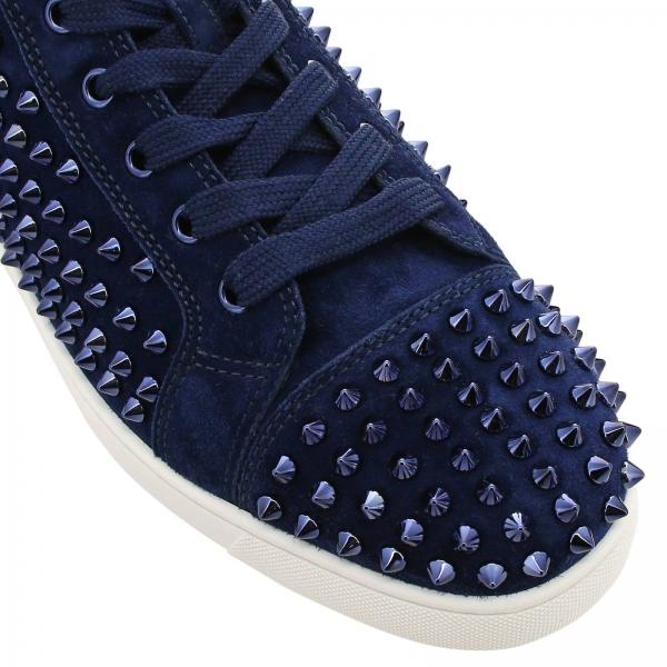 A Scamosciata Pelle Christian Polacco Spikes Sneakers Lou Louboutin In H9IeDE2YWb