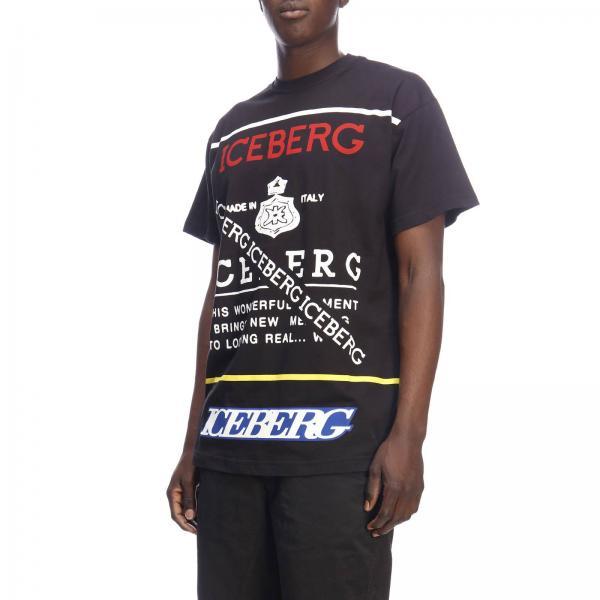 Con Stampa A shirt Maniche Maxi Iceberg T Corte xQCBeWrdo
