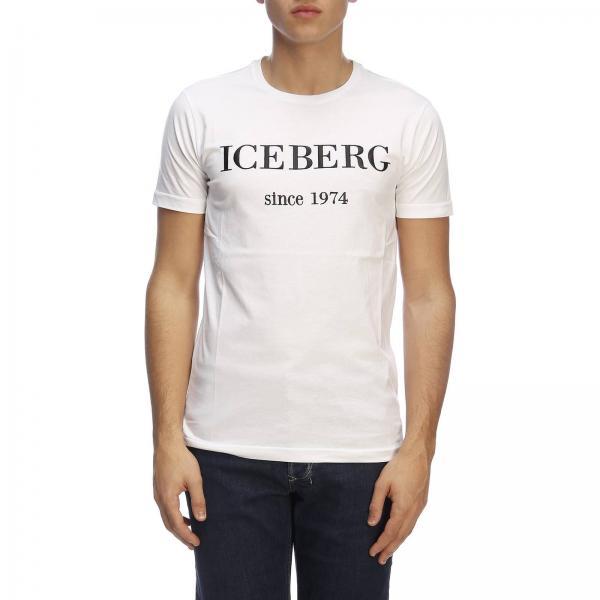 T Iceberg shirt 1974 Stampa Basic A Corte Con Maxi Maniche cKJl35TFu1