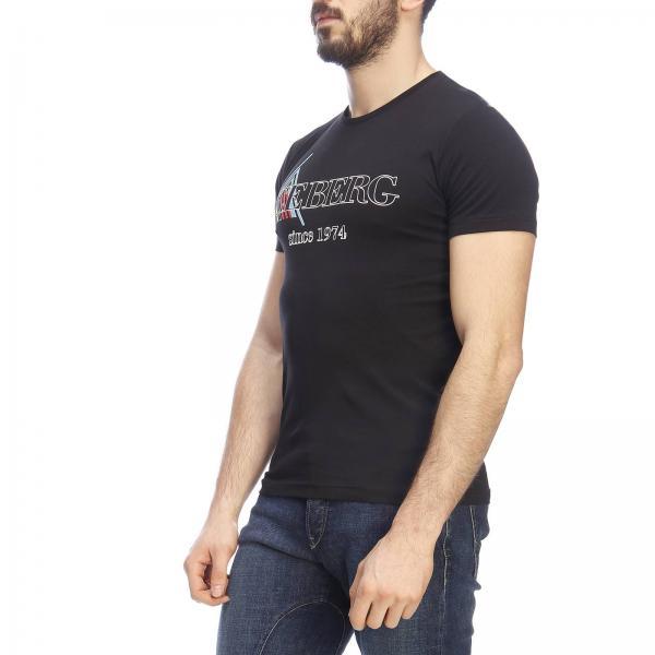 Maniche Stretch Stampa T shirt Corte Maxi Iceberg A Con bYf6yvI7g