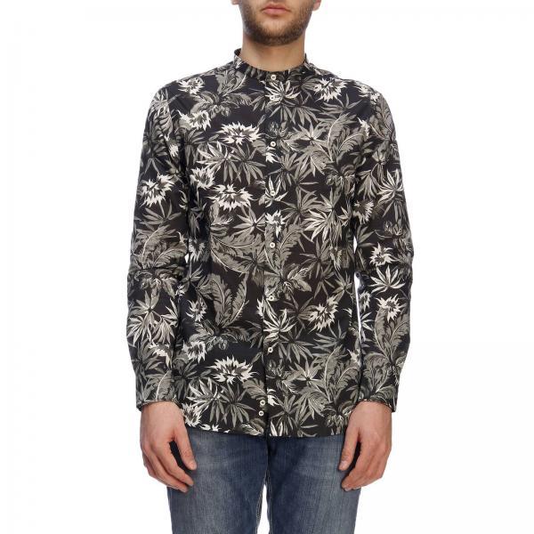 cheap for discount 1ff69 021ba Camicia in lino a fantasia floreale con collo alla coreana
