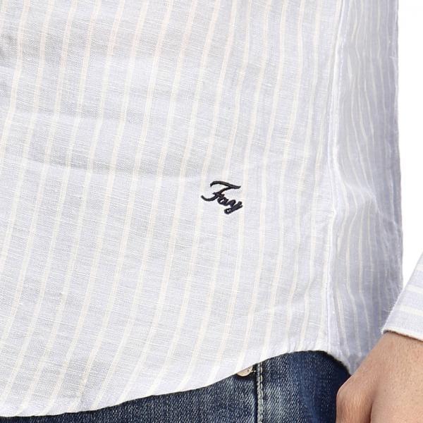 In Collo Fay Con Bacchettato Camicia Francese Lino PTiwOklXZu