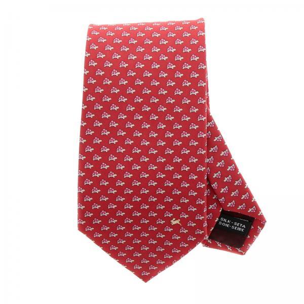 l'ultimo 98e24 18b9d Cravatta 8 cm in pura seta con fantasia di tartarughe all over