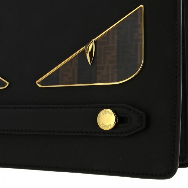 Portadocumenti Ff Maxi A6fk NeroPochette Bugs Contrasto Pelle Liscia Bag In Con 7va445 Fendi Uomo A Eyes VzSGqpUM