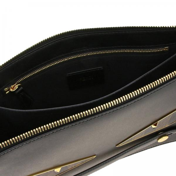 Portadocumenti In Liscia Maxi Eyes Uomo Bugs Con Pelle Bag A6fk Ff 7va445 A Fendi NeroPochette Contrasto qSGzVUMp
