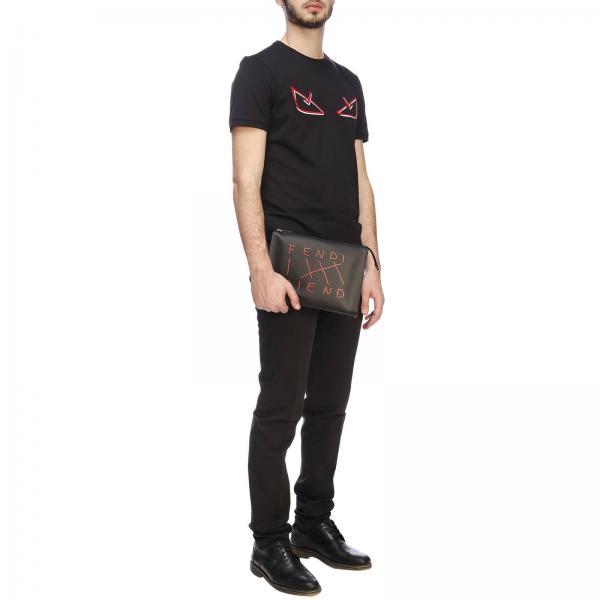 Logo Bag Jersey shirt Fendi In Bugs T Devil Con Girocollo Di Cotone Maxi Eyes A XOn0w8Pk