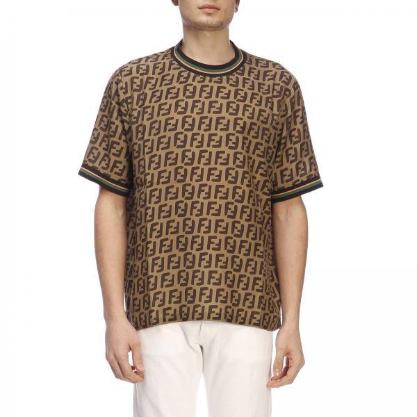 Corte All Fendi E Maniche shirt Ff Over Con Stampa T Girocollo A D2IWHE9
