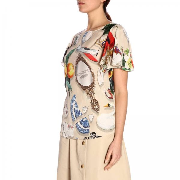 Con Top Moschino Stampa Over Boutique All ybfv76gY