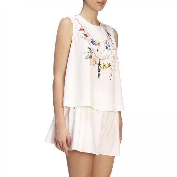 Top 834giglio 0212 Moschino Mujer 2019 verano Blanco Primavera Boutique RnWr4wqBR